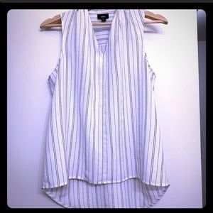 Mossimo Pleated black and white blouse medium
